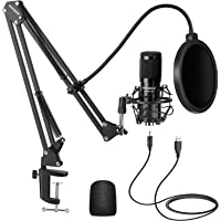 Neewer USB Microphone Kit, Plug & Play 192kHz/24-Bit Supercardioid Condenser Mic with Boom Arm and Shock Mount for…