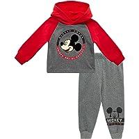 Disney Boys' Long Sleeve Hooded Shirt and Jogger Set (Newborn and Infant)