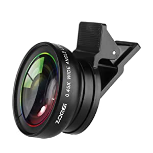 ZOMEI Universal 0.45X 37mm Wide Angle+Macro kit Camera Lens For iPhone