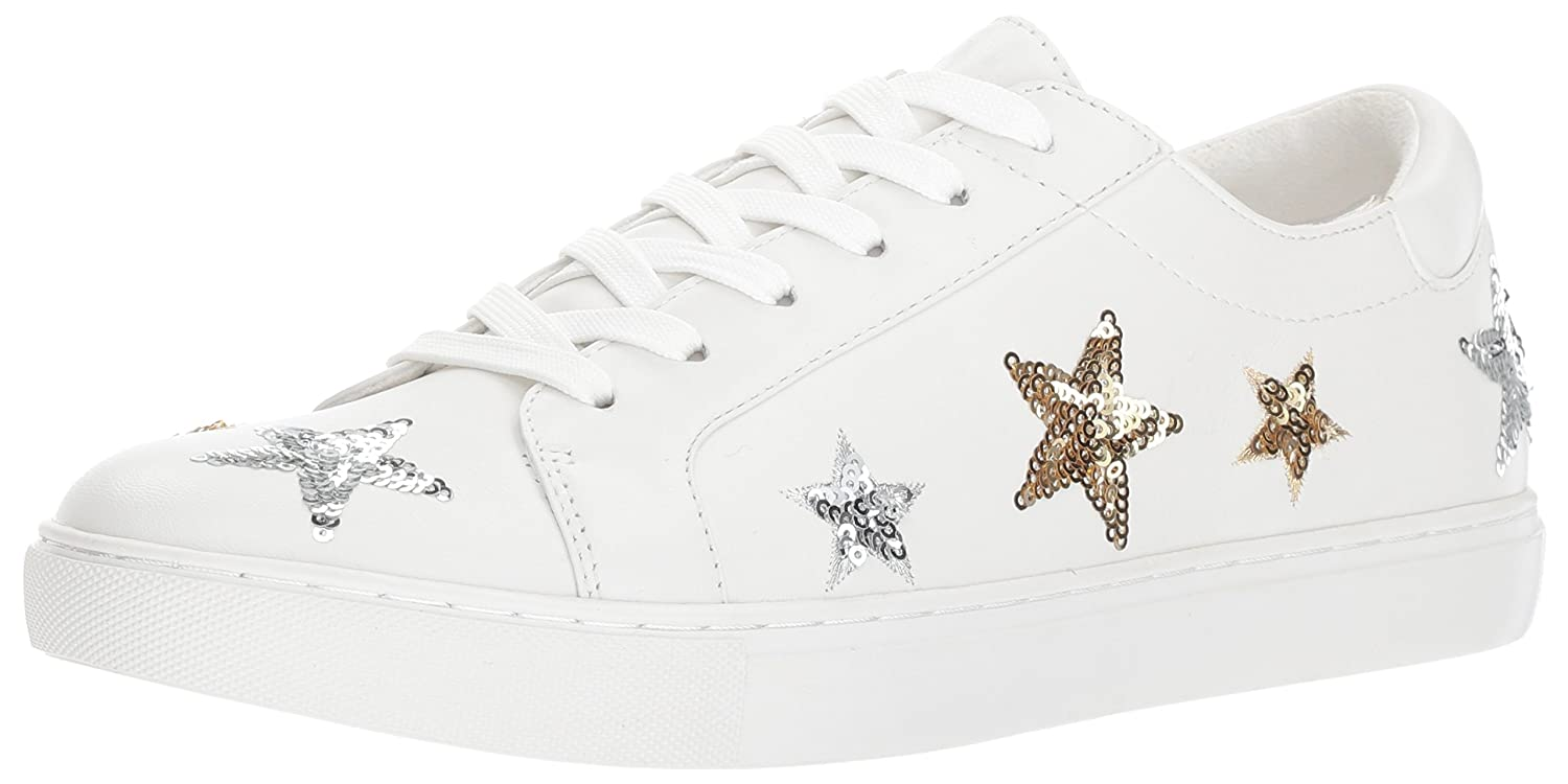 Kenneth Cole New York Women's Kam 11 Star Patches Fashion Sneaker B071CF5C6T 10 B(M) US White