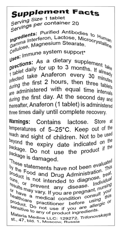 Drug Anaferon. Reviews Instruction 33