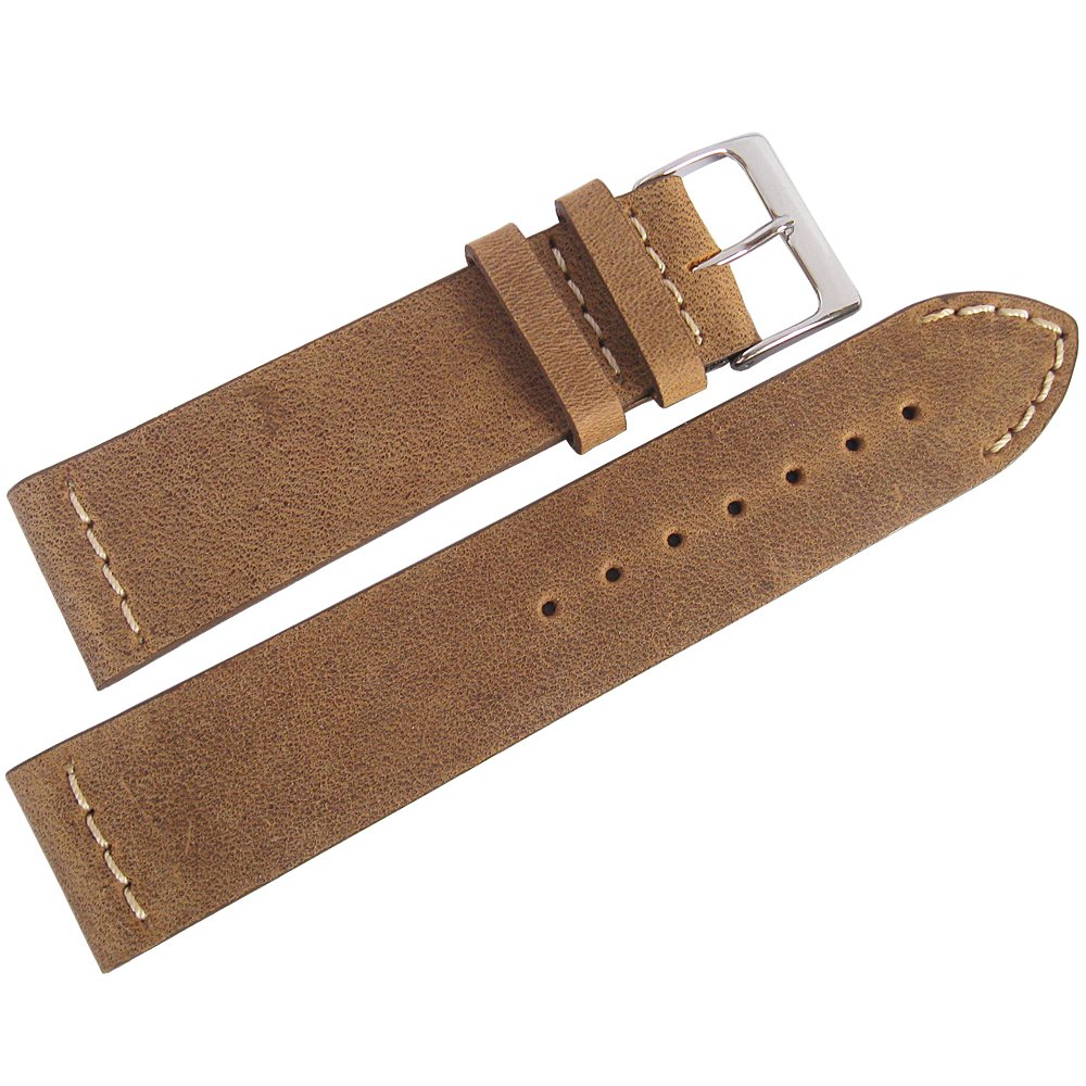 ColaReb 18mm Venezia Short Rust Brown Leather Watch Strap