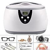 Homdox 600ML Ultraschall Gerät Digitale Ultrasonic Cleaner Reiniger Reinigungsgerät für Zuhause Brillen Uhren Schmuck Zahnersatz
