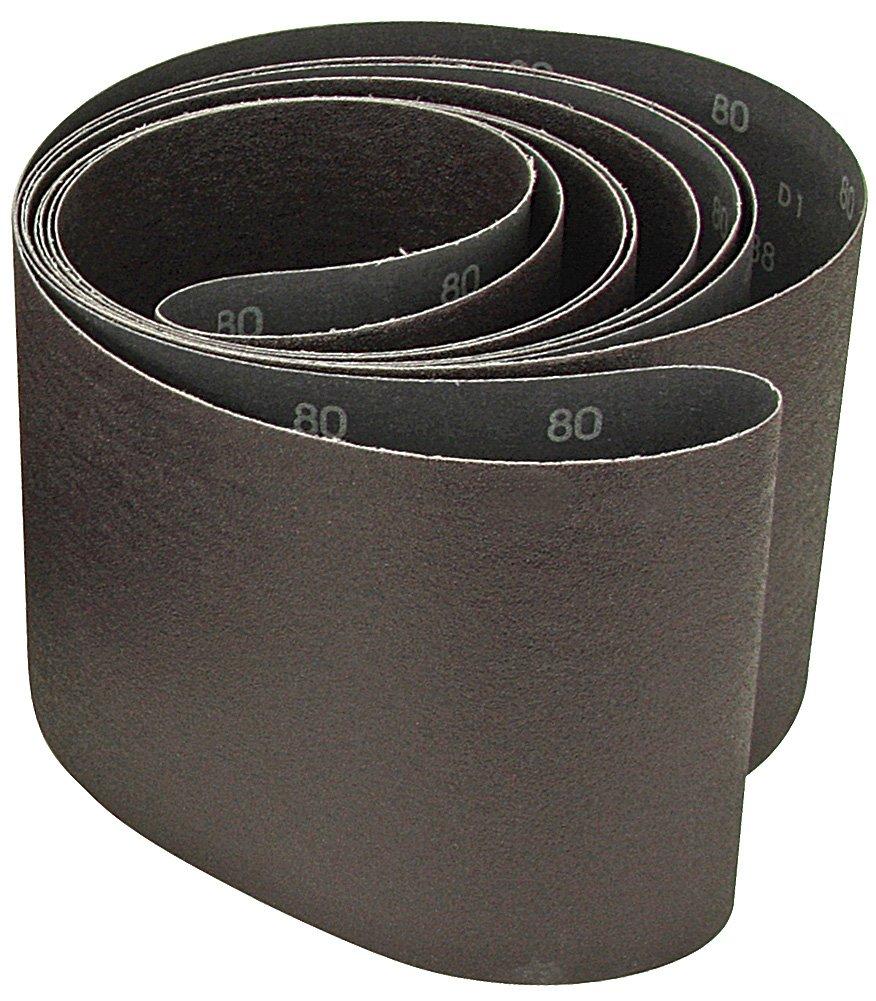 6x132 Aluminum Oxide 80 Grit Sander Belt, y-weight<br>A&H Abrasives 919007x5, 5-pack