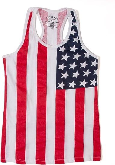Bandera de Estados Unidos para mujer Racer camiseta de tirantes - Multi -: Amazon.es: Ropa y accesorios
