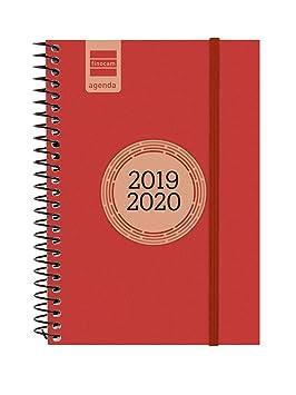 Finocam - Agenda 2019-2020 semana vista apaisada español Espir Label Rojo