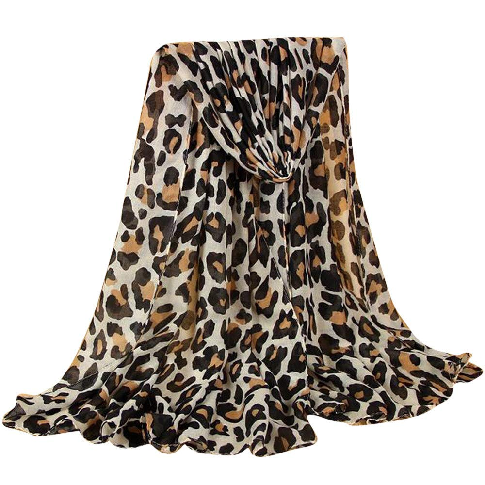 Beautyfine ❤ Clearance!! Fashion Scarves for Women Ladies New Classic Leopard Scarf Cotton And Linen Wild Scarves
