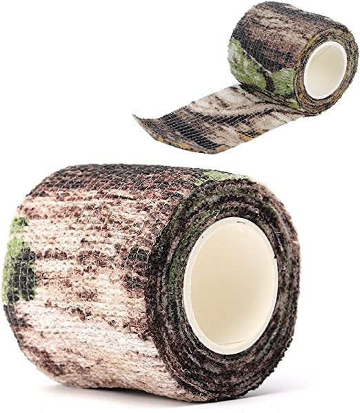 Tarnung Band 5 St/ück Selbstklebendes,Vlies Stoff Outdoor-Tarnklebeband,Schutzband Tarnungszubeh/ör Dekor Stretch Bandage f/ür Jagd,L/änge 4,5m