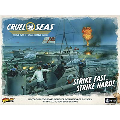 Cruel Seas Strike Fast, Strike Hard! Cruel Seas Starter Set 1:300 WWII Naval Military Wargaming Plastic Model Kit: Toys & Games