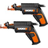 WORX WO7035 2 Pack of WX255L SD Semi-Automatic Power Screw Driver with Screw Holder,, Black/Orange