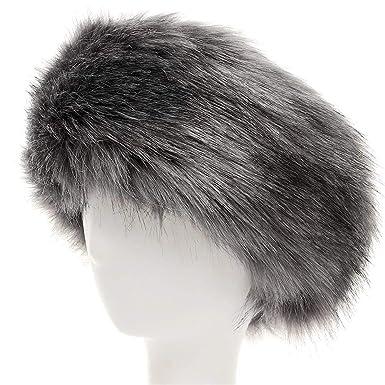 44e6785165e LAPOPNUT Faux Fur Headband Women Ladies Girls Winter Warm Luxury Furry Ski  Head Ear Warmer Earmuff