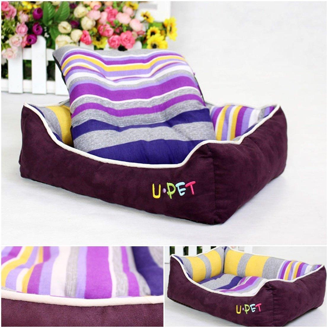 1Pc First-class Popular Pet Bed Size L Nest Pad Furniture Cat Mat Color Purple