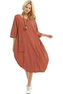5f7b58e9d63 Anysize Soft Linen Cotton Lantern Loose Dress Spring Summer Fall Plus Size  Clothing Y19