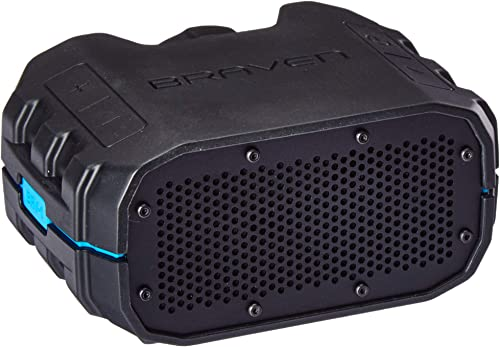Braven BRV1BCB BRV-1 Portable Wireless Speaker, Black Cyan