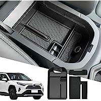 D-Lumina RAV4 Center Console Insert Organizer Compatible with Toyota RAV-4 2019 2020 2021 - Armrest Secondary Tray…