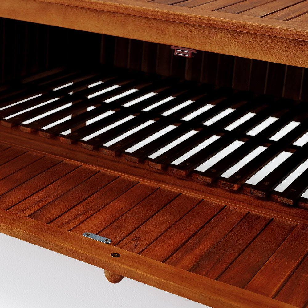 DEUBA GmbH /& Co KG Banc de jardin pour 2 personnes en bois imperm/éable Coffre de rangement et coussin inclus