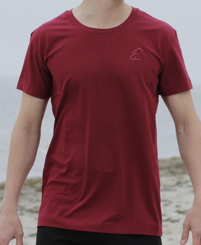 ESPARTO Herren T-Shirt Bhaalu Granatrot S