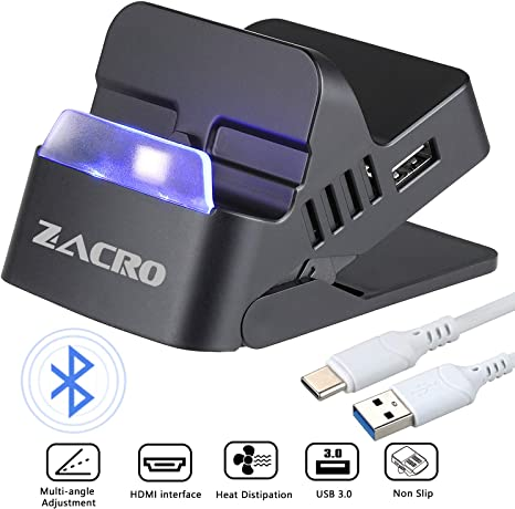 Zacro Switch Dock with Bluetooth- Portable Switch Charging Stand ...