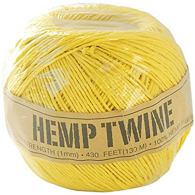 Toner Hemp Cord 20# 400'-Pack-Yellow: Arts, Crafts & Sewing