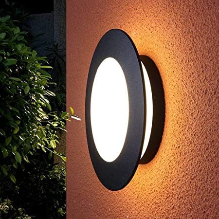 GXRck LED Lámpara De Pared Al Aire Libre Impermeable Moho Iluminación Jardín Luces De Pared Balcón Paisaje Lámpara De Techo Casa De Foyer Aplique De La Pared: Amazon.es: Hogar
