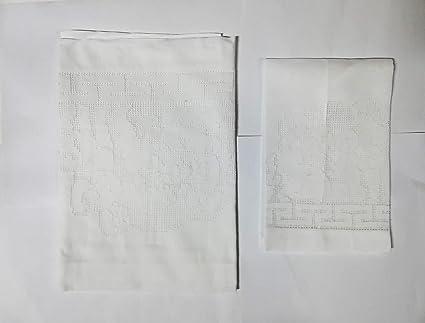 Pareja + invitados toalla bordada lino puro con vainica a la punta