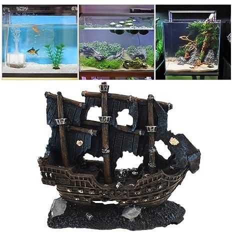 Petacc Aquarium Decoration Resin Fish Fish Ornamento Decoraciones del tanque de pescados para el acuario del