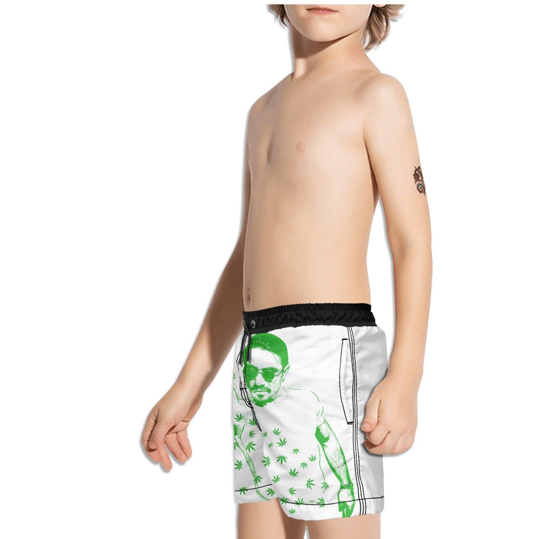 Ouxioaz Boys Swim Trunk Handsome Guy Weed Beach Board Shorts
