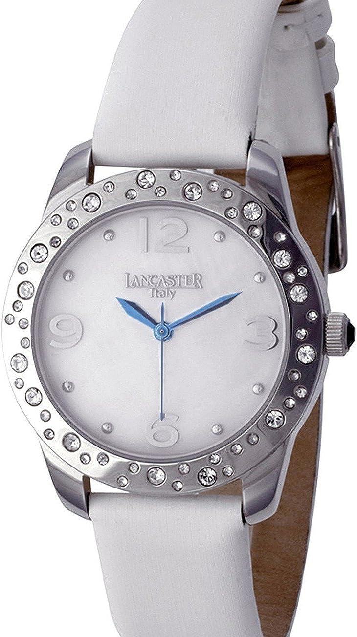 Lancaster 0631LZSSBNBN - Reloj de Señora Cuarzo Piel Blanco: Amazon.es: Relojes