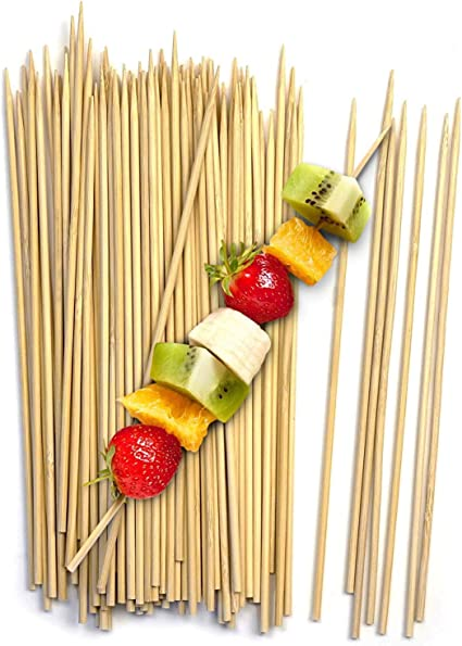 Premium Quality Campfire Kabob skewers Yakitori bamboo sticks Hot Dog Vegetables Marshmallow Roasting Sticks 100, 6 Royal 7 Pack of