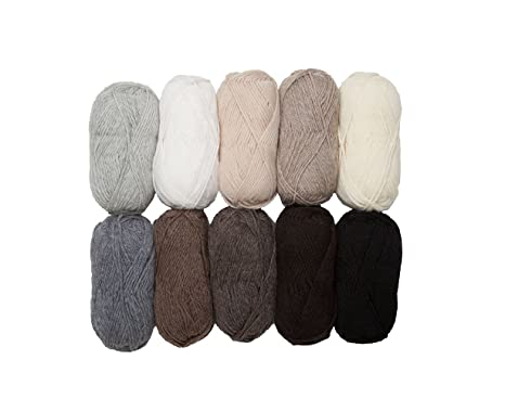 Knit Picks Wool of The Andes Worsted Weight Yarn 10 Balls - Neutral