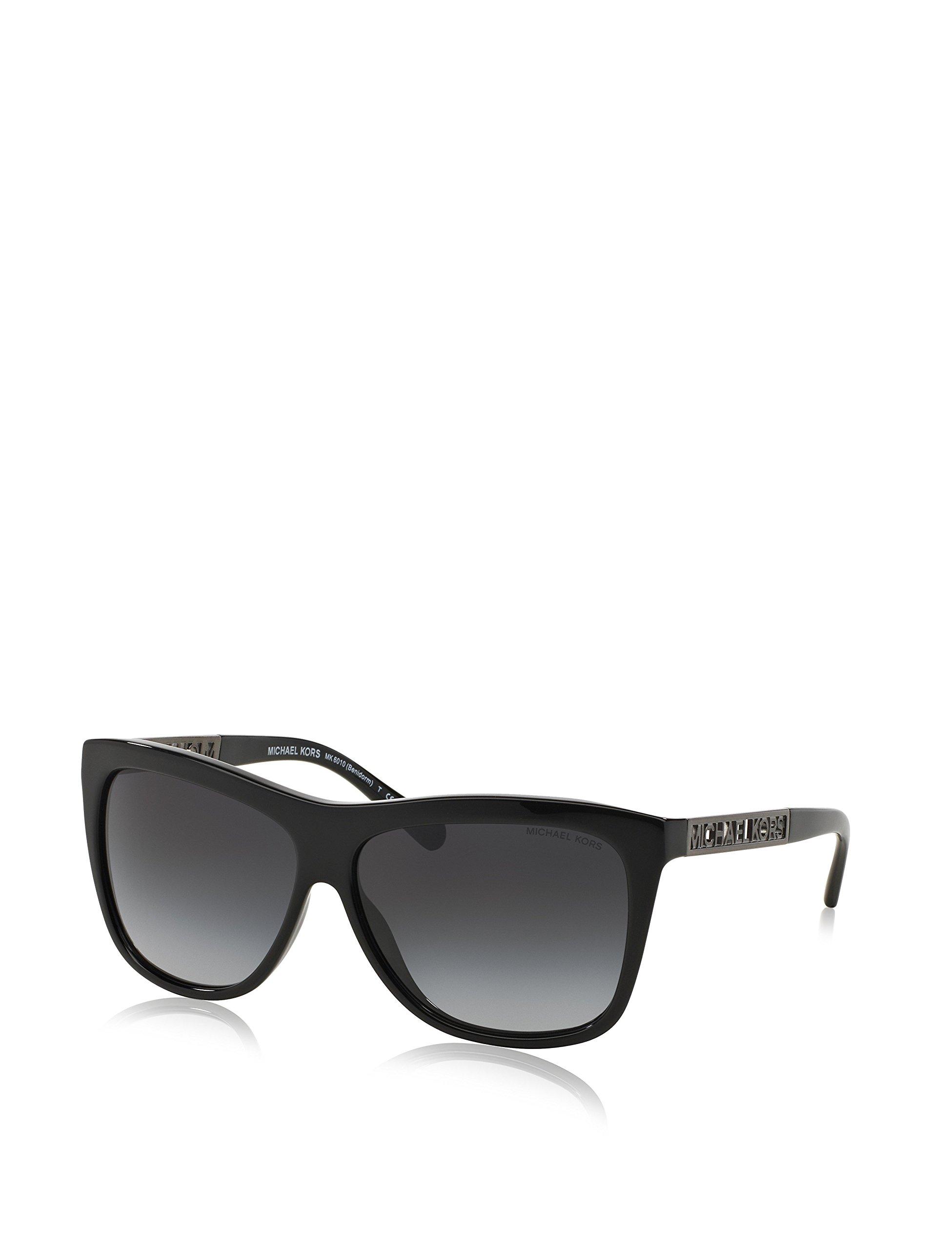 Michael Kors Womens Benidorm Sunglasses (MK6010) Black/Grey Acetate - Non-Polarized - 59mm