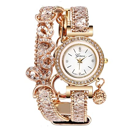 Amazon.com: Mujer Femenino Relojes de cuarzo analógico en ...