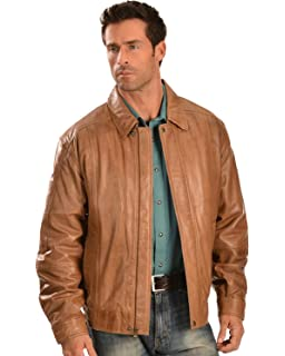 cd404d74d Scully Men's Double Collar Leather Jacket at Amazon Men's Clothing store