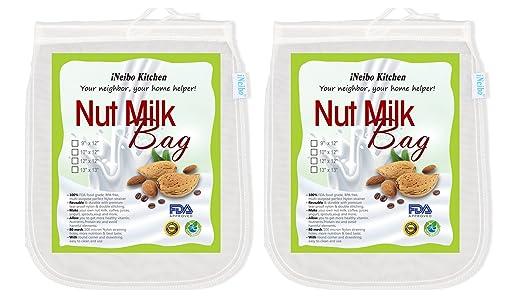 iNeibo Bolsa de leche de nuez, tela de filtración hecha de nailon ...