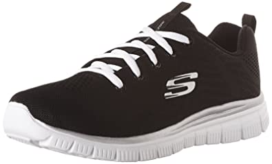f8b53034a966 Skechers Graceful Get Connected Womens Sneakers Black White 6  Buy ...
