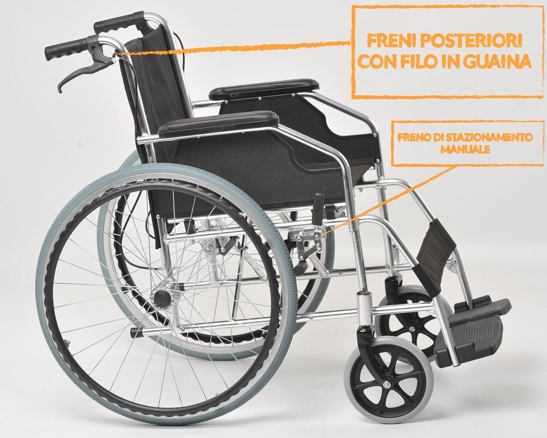 Silla de ruedas Agila Light 46, plegable por la parte trasera, para discapacitados y personas mayores: Amazon.es: Salud y cuidado personal