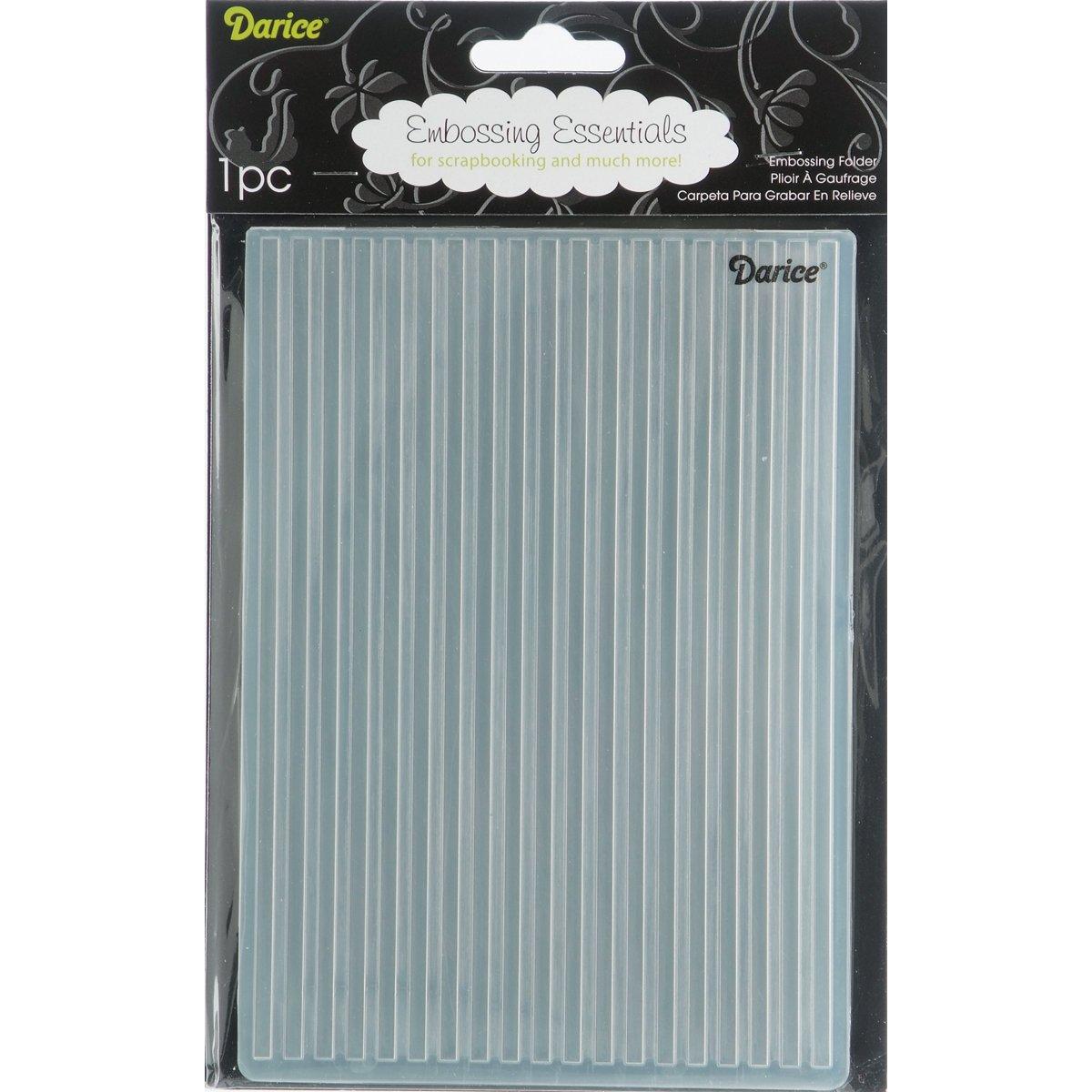 12.7 x 17.8 x 0.11 cm Plastic Darice Embossing Folder Pr/ägefolder-Schablone Streifen-Stripe-12,7 x 17,8 cm transparent