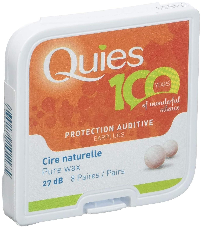 boite de 8 paires QUIES protection auditive cire naturelle