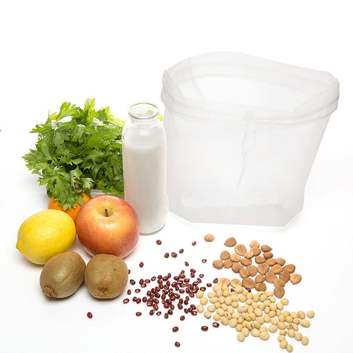 ... de tamiz de alimentos de malla fina de nylon reutilizable, filtro de calidad alimentaria para leche de almendra, café, elaboración de la cerveza casera ...