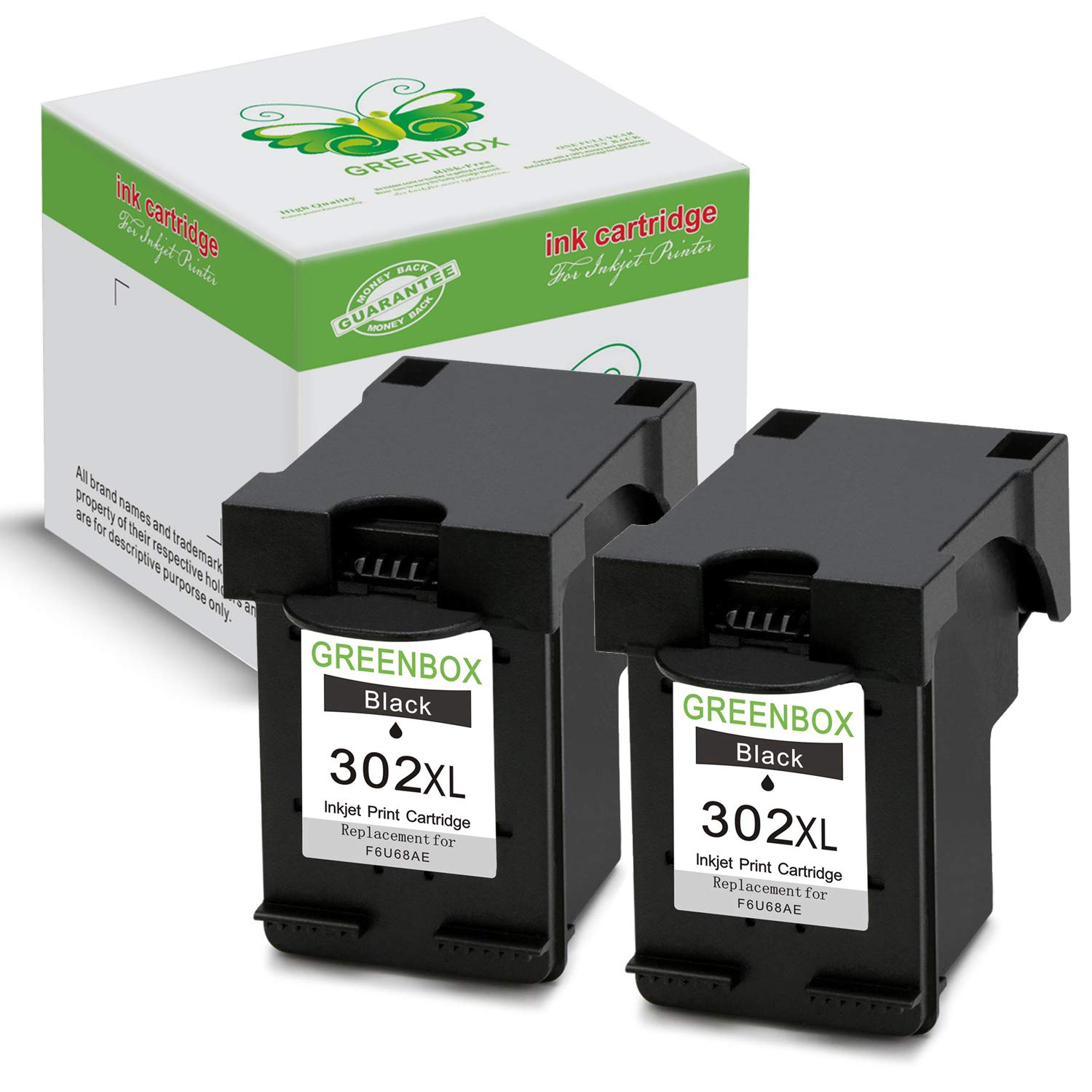 GREENBOX Remanufacturado HP 302 XL Cartuchos de Tinta (2 Negro ...