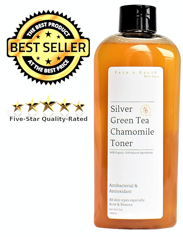 Amazon.com: Plata coloidal tóner con té verde y manzanilla ...