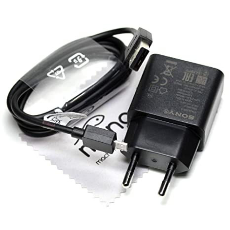 Ladegerät für Sony Original UCH10 + Datenkabel 1,8A Netzteil Ladekabel Aufladekabel für Sony Xperia Z5, Xperia Z5 Compact, Xp