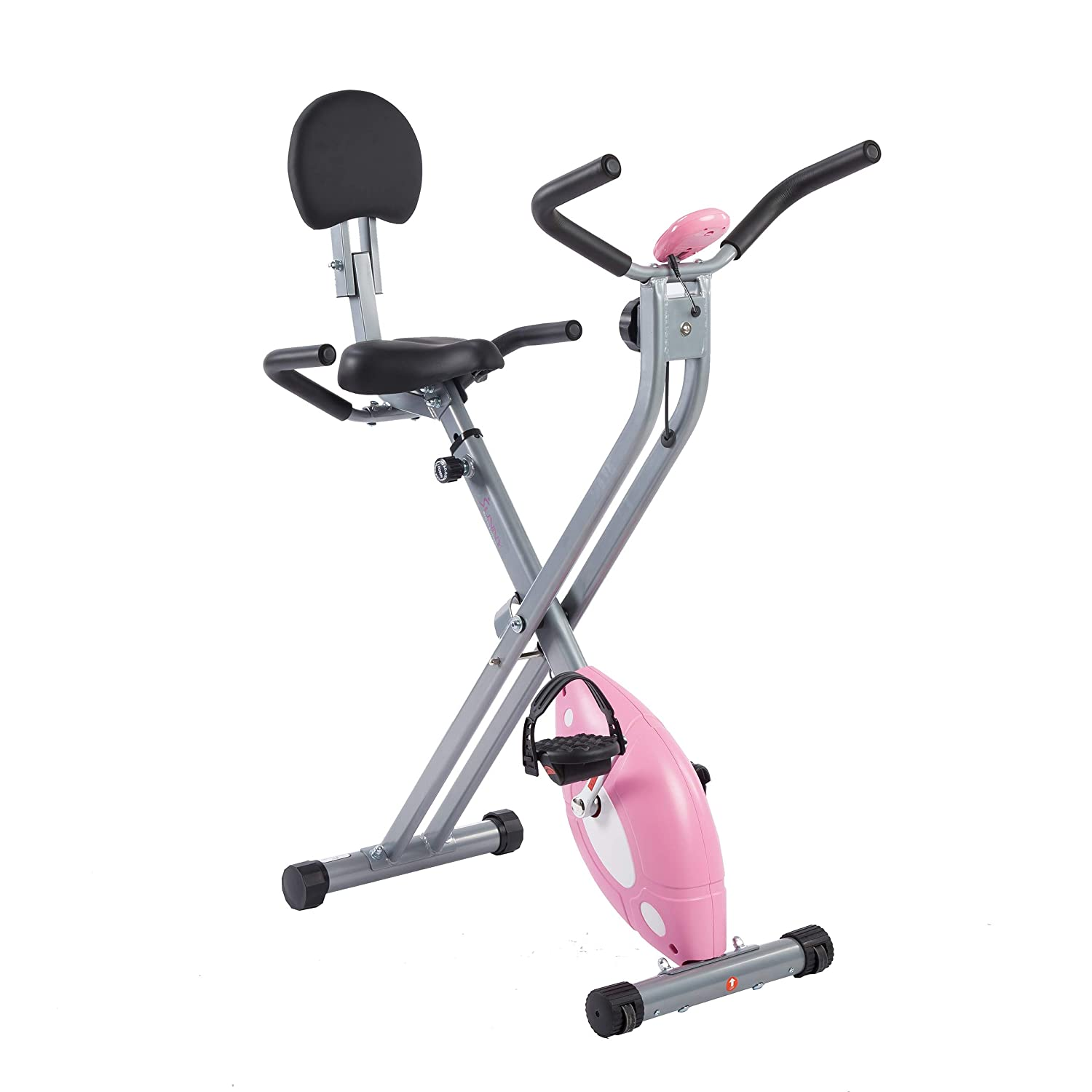 Sunny Health Fitness Magnetic Folding Recumbent Bike Exercise Bike, 220lb Capacity – SF-RB1117