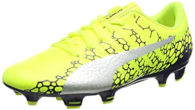 788234e2a262 Puma Men s Evopower Vigor 4 Graphic Fg Yellow Football Boots - 10 UK India (