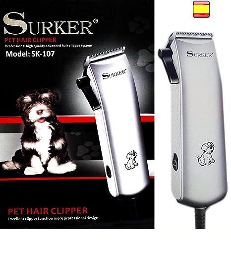 SURKER SK-107 Cortapelo Profesional Para Perros Gatos y Mascotas Caseras, Con Cable,