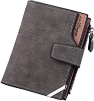 Wallet For Men - Safe Vintage Pu Wallet Bank Card Holder Coin Pocket Multi Card Slot Solid Color
