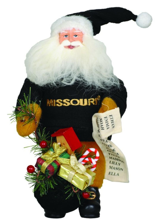 10'' NCAA Missouri Tigers Gift Bearing Santa Claus Christmas Table Top Figure