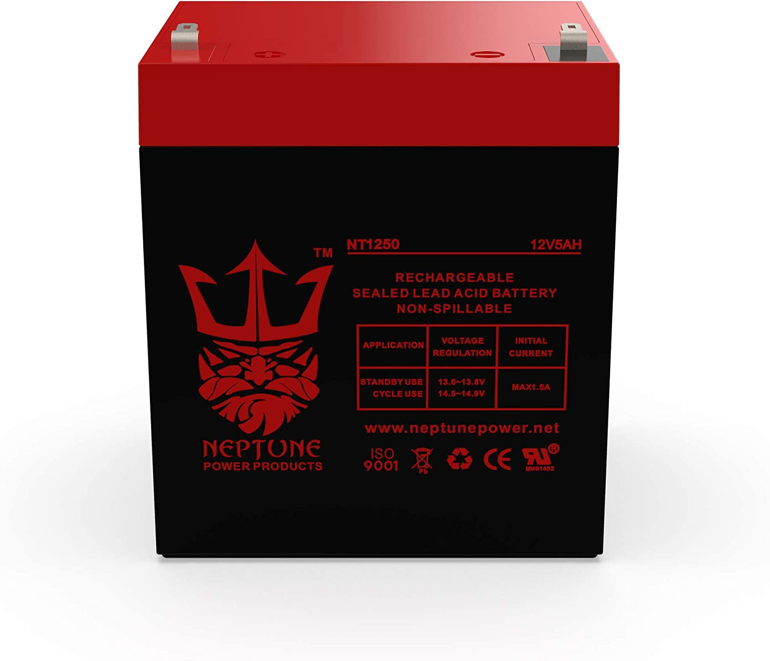 Charity Battery CB1250 12V 5AH Alarm System Battery Back Up Vista 20P ADT Brand Product