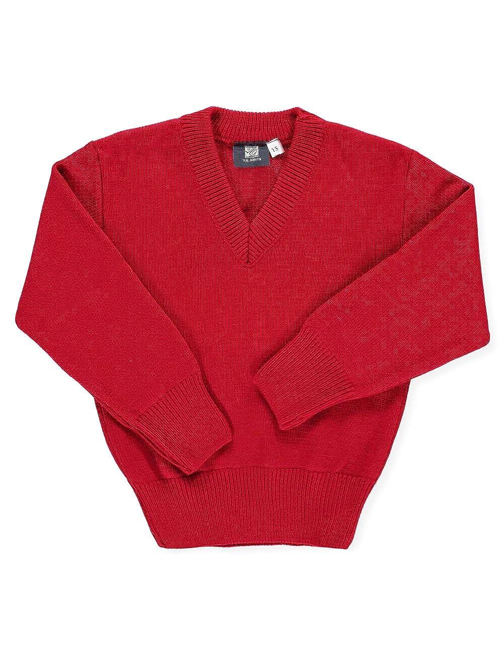 T.Q. Knits Big Boys' Control-Pil V-Neck Sweater