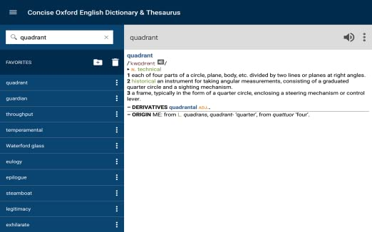 Amazon.com: Concise Oxford English Dictionary & Thesaurus: Appstore ...